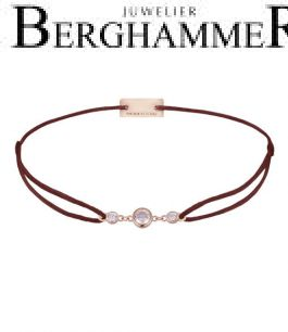 Filo Armband Textil Braun Fashion 925 Silber roségold vergoldet 21204717