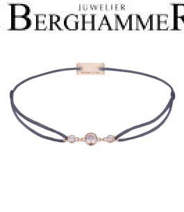 Filo Armband Textil Grau-Lila Fashion 925 Silber roségold vergoldet 21204718