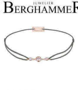 Filo Armband Textil Anthrazit Fashion 925 Silber roségold vergoldet 21204719