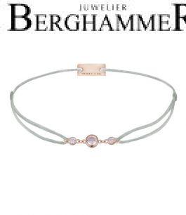 Filo Armband Textil Hellgrau Fashion 925 Silber roségold vergoldet 21204720
