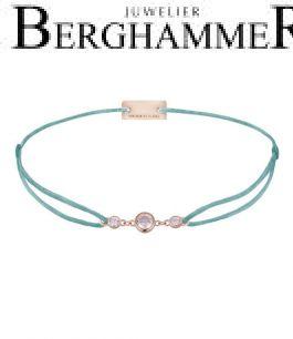 Filo Armband Textil Türkis Fashion 925 Silber roségold vergoldet 21204722