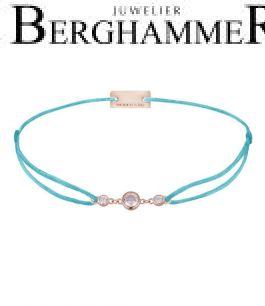 Filo Armband Textil Hellblau Fashion 925 Silber roségold vergoldet 21204723