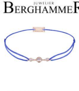 Filo Armband Textil Blitzblau Fashion 925 Silber roségold vergoldet 21204724