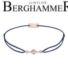Filo Armband Textil Dunkelblau Fashion 925 Silber roségold vergoldet 21204725