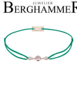 Filo Armband Textil Grasgrün Fashion 925 Silber roségold vergoldet 21204727