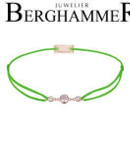 Filo Armband Textil Neon-Grün Fashion 925 Silber roségold vergoldet 21204728