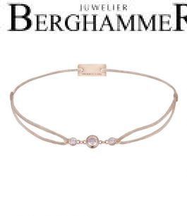 Filo Armband Textil Hellrosa Fashion 925 Silber roségold vergoldet 21204729