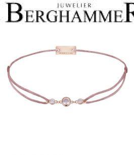 Filo Armband Textil Camel Fashion 925 Silber roségold vergoldet 21204730