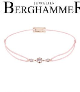 Filo Armband Textil Fuchsia Fashion 925 Silber roségold vergoldet 21204731