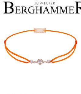 Filo Armband Textil Neon-Orange Fashion 925 Silber roségold vergoldet 21204733