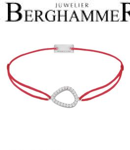 Filo Armband Textil Rot Fashion 925 Silber rhodiniert 21204734