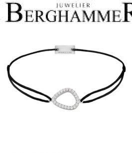 Filo Armband Textil Schwarz Fashion 925 Silber rhodiniert 21204735