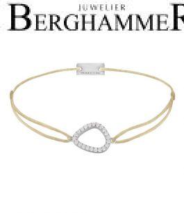 Filo Armband Textil Champagne Fashion 925 Silber rhodiniert 21204736