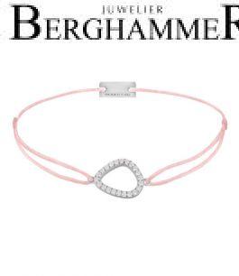 Filo Armband Textil Rosa Fashion 925 Silber rhodiniert 21204737