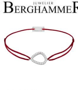 Filo Armband Textil Weinrot Fashion 925 Silber rhodiniert 21204738