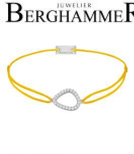 Filo Armband Textil Gelb Fashion 925 Silber rhodiniert 21204739
