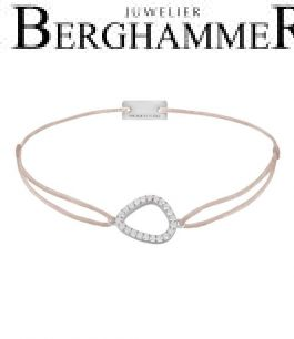 Filo Armband Textil Beige Fashion 925 Silber rhodiniert 21204740