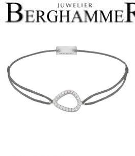 Filo Armband Textil Anthrazit Fashion 925 Silber rhodiniert 21204743