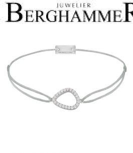 Filo Armband Textil Hellgrau Fashion 925 Silber rhodiniert 21204744