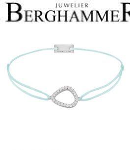 Filo Armband Textil Mint Fashion 925 Silber rhodiniert 21204745