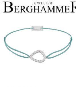 Filo Armband Textil Türkis Fashion 925 Silber rhodiniert 21204746