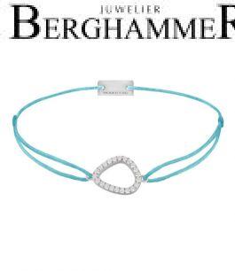 Filo Armband Textil Hellblau Fashion 925 Silber rhodiniert 21204747
