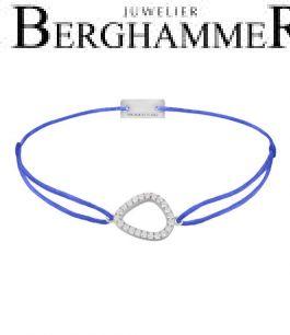 Filo Armband Textil Blitzblau Fashion 925 Silber rhodiniert 21204748