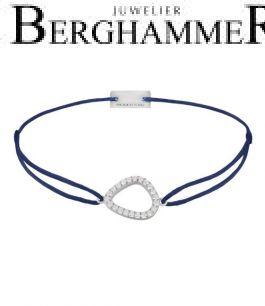 Filo Armband Textil Dunkelblau Fashion 925 Silber rhodiniert 21204749