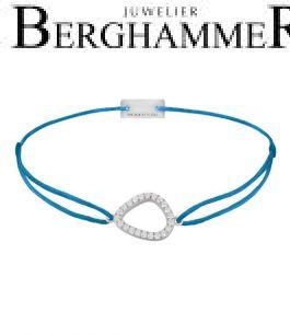 Filo Armband Textil Petrol Fashion 925 Silber rhodiniert 21204750
