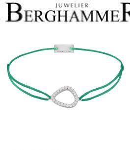 Filo Armband Textil Grasgrün Fashion 925 Silber rhodiniert 21204751