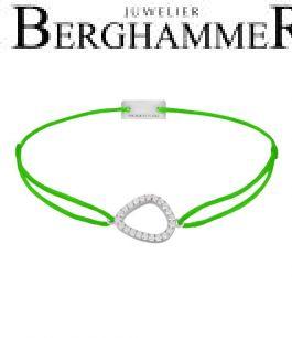 Filo Armband Textil Neon-Grün Fashion 925 Silber rhodiniert 21204752