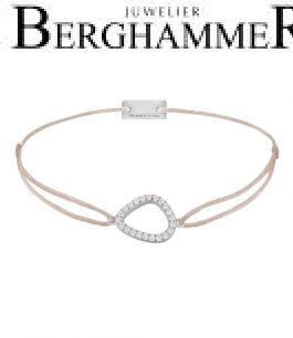 Filo Armband Textil Hellrosa Fashion 925 Silber rhodiniert 21204753