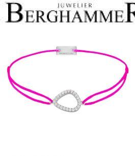 Filo Armband Textil Neon-Pink Fashion 925 Silber rhodiniert 21204756