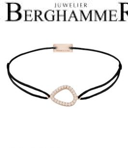 Filo Armband Textil Schwarz Fashion 925 Silber roségold vergoldet 21204759