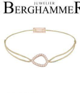 Filo Armband Textil Champagne Fashion 925 Silber roségold vergoldet 21204760