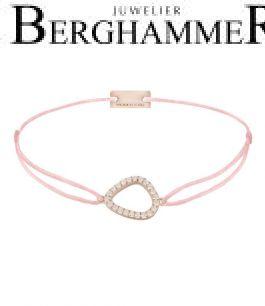 Filo Armband Textil Rosa Fashion 925 Silber roségold vergoldet 21204761