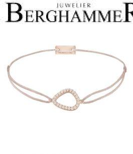 Filo Armband Textil Beige Fashion 925 Silber roségold vergoldet 21204764