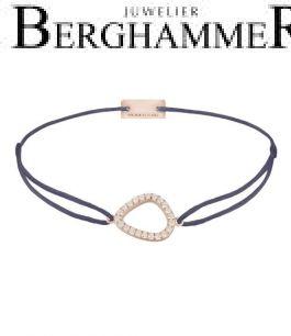 Filo Armband Textil Grau-Lila Fashion 925 Silber roségold vergoldet 21204766
