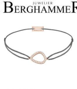 Filo Armband Textil Anthrazit Fashion 925 Silber roségold vergoldet 21204767