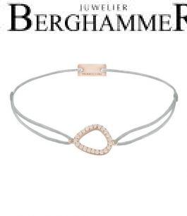 Filo Armband Textil Hellgrau Fashion 925 Silber roségold vergoldet 21204768