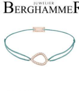 Filo Armband Textil Türkis Fashion 925 Silber roségold vergoldet 21204770