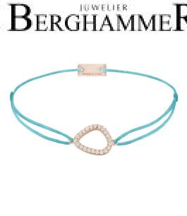 Filo Armband Textil Hellblau Fashion 925 Silber roségold vergoldet 21204771