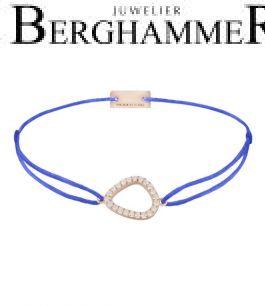 Filo Armband Textil Blitzblau Fashion 925 Silber roségold vergoldet 21204772