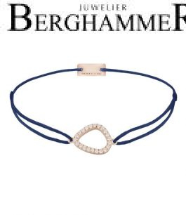 Filo Armband Textil Dunkelblau Fashion 925 Silber roségold vergoldet 21204773