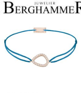 Filo Armband Textil Petrol Fashion 925 Silber roségold vergoldet 21204774