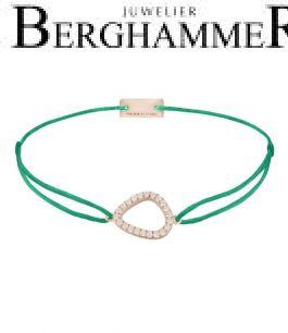 Filo Armband Textil Grasgrün Fashion 925 Silber roségold vergoldet 21204775
