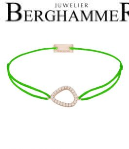 Filo Armband Textil Neon-Grün Fashion 925 Silber roségold vergoldet 21204776