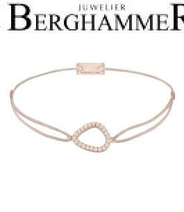 Filo Armband Textil Hellrosa Fashion 925 Silber roségold vergoldet 21204777