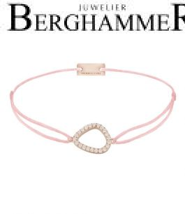 Filo Armband Textil Fuchsia Fashion 925 Silber roségold vergoldet 21204779
