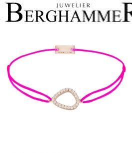 Filo Armband Textil Neon-Pink Fashion 925 Silber roségold vergoldet 21204780